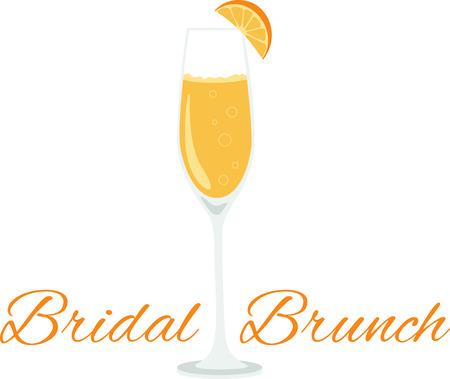 Che un design fresco di un delizioso cocktail mimosa! Questo sarebbe grande su un grembiule da cucina o un asciugamano bar. Archivio Fotografico - 53239225