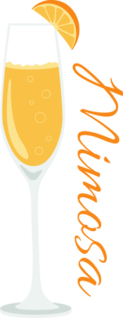 What a cool design of a delicious mimosa cocktail!  This would be great on a kitchen apron or bar towel.
