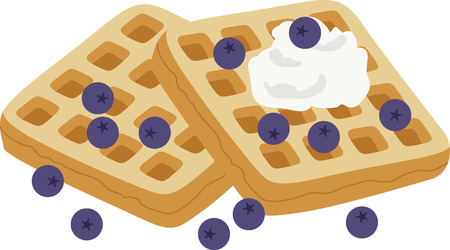 何が楽しいのおいしいブルーベリー ワッフル デザイン。これはキッチン エプロンやランチョン マットは素晴らしいことです。