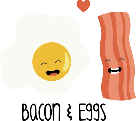 bacon strips: What a fun design of bacon  eggs. This would be great on a kitchen apron or on place mats.