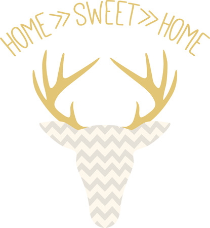 The hunters in your family will love this cool chevron deer head!  Print it on a tee or cap for a great gift idea! Illustration