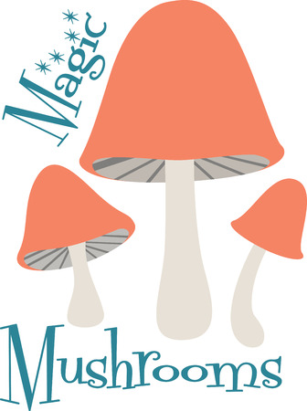 What a cute design of toadstool mushrooms!  Use this on a childs shirt or on kitchen towels!