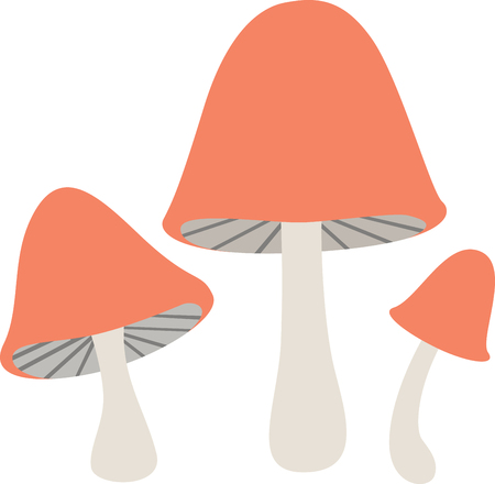 a toadstool: What a cute design of toadstool mushrooms!  Use this on a childs shirt or on kitchen towels!