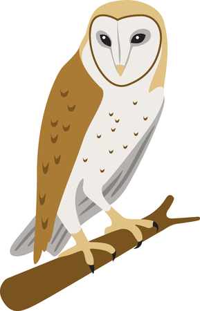 hoot: This such a cool barn owl logo!  Use this on a childs shirt or tote bag!