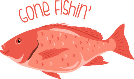 fishes: Fish lovers will appreciate this red snapper design!  Use this on a apron or tee for the fisherman!