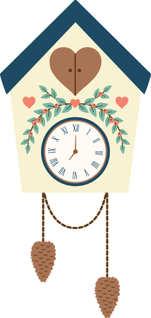 ticker: What a pretty cuckoo clock design.  Add this to home decor for a nice touch.