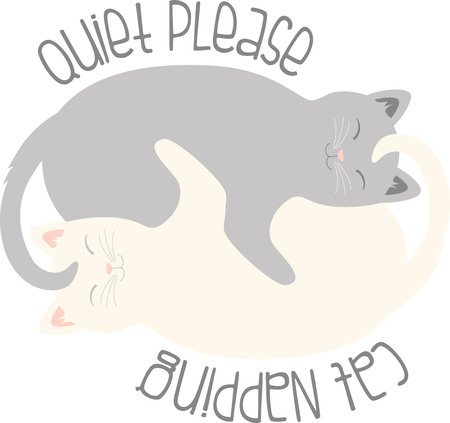 cuddling: What a cute cuddling kittens logo!  Use this on a girls tee or pillowcase. Illustration