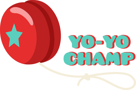 yoyo: For hours of pure fun, nothing like a yoyo. This adorable design will look great on bodysuits, layettes, baby t-shirts, hats, bibs & more.