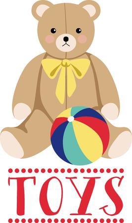 この抱きテディとあなたの日に愛を絞る。 このデザインは、ボディスーツ、新生児用品、おむつカバー、ベビー t シャツ、帽子、ゼッケン ・素晴ら  イラスト・ベクター素材