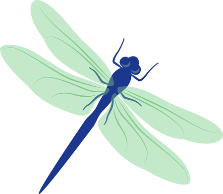 What a pretty dragonfly design!  Use this on a windsock or yard flag.