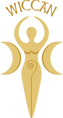 wicca: This pagan goddess design is very cool!  Add this to a tee or the back of a sweatshirt. Illustration