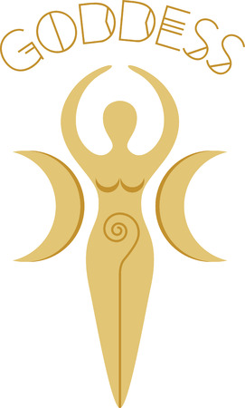 This pagan goddess design is very cool!  Add this to a tee or the back of a sweatshirt. 向量圖像