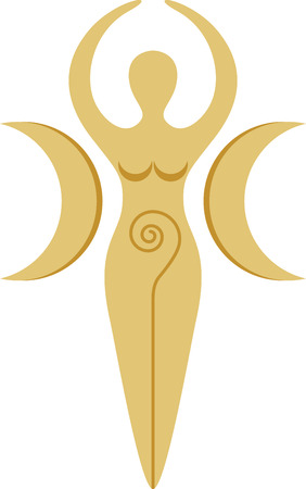 pagan: This pagan goddess design is very cool!  Add this to a tee or the back of a sweatshirt. Illustration