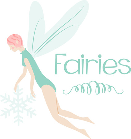 fictional character: What a pretty winter fairy design.  Add this on a windsock or yard flag for winter.