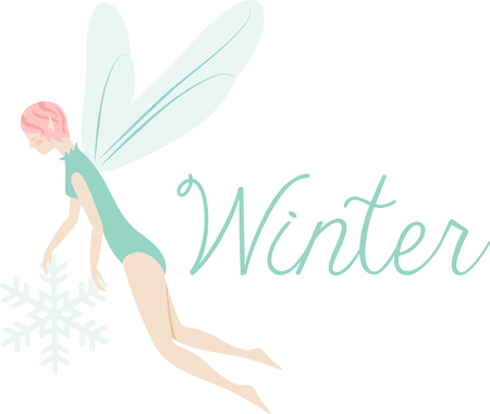 What a pretty winter fairy design.  Add this on a windsock or yard flag for winter.