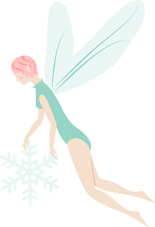 wee: What a pretty winter fairy design.  Add this on a windsock or yard flag for winter.