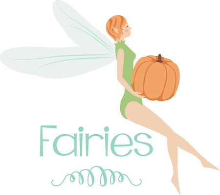 windsock: What a pretty pumpkin fairy design.  Add this on a windsock or yard flag for fall.