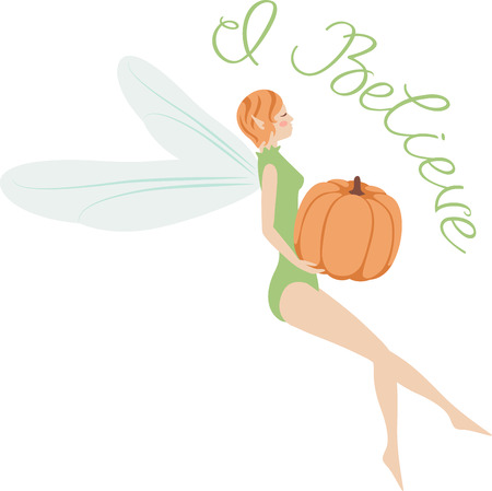 faerie: What a pretty pumpkin fairy design.  Add this on a windsock or yard flag for fall.