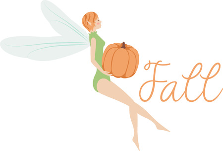 faery: What a pretty pumpkin fairy design.  Add this on a windsock or yard flag for fall.