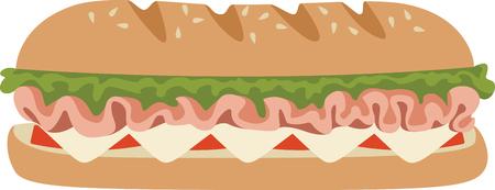 This submarine sandwich design. Ilustração