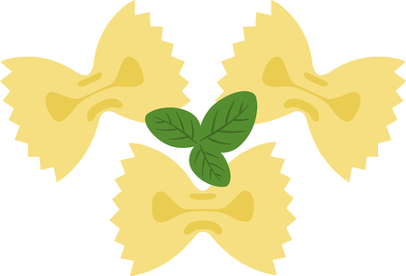 bowtie: What a cool design of farfalle bowtie pasta. This would be great on an apron or tee.