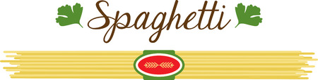 What a cool design of spaghetti pasta. This would be great on an apron or tee. Illusztráció