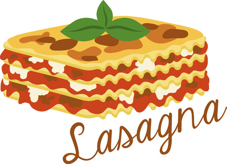 lasagna: What a cool design of lasagna!  This would be great on an apron or tee.