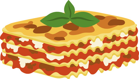 What a cool design of lasagna. This would be great on an apron or tee.