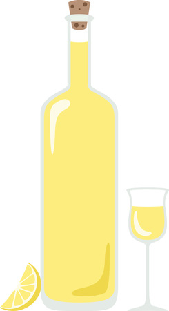 What a cool design of limon cello. This would be great on an apron or tee. Illustration
