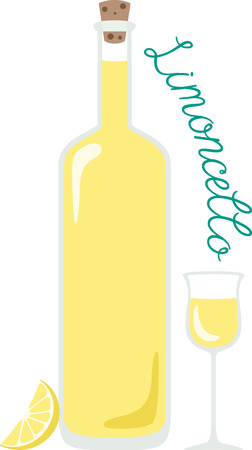 limon: What a cool design of limon cello. This would be great on an apron or tee. Illustration