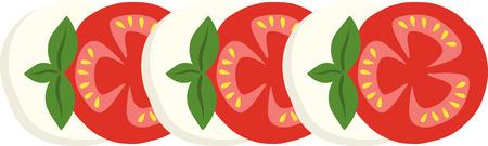 モッツアレラ トマトのどのようなクールなデザイン。これはエプロンや t シャツですばらしいでしょう。  イラスト・ベクター素材