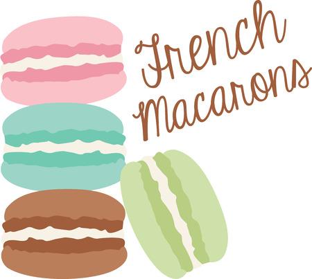フランスのマカロンのどのようなクールなデザイン。これはエプロンや t シャツですばらしいでしょう。  イラスト・ベクター素材