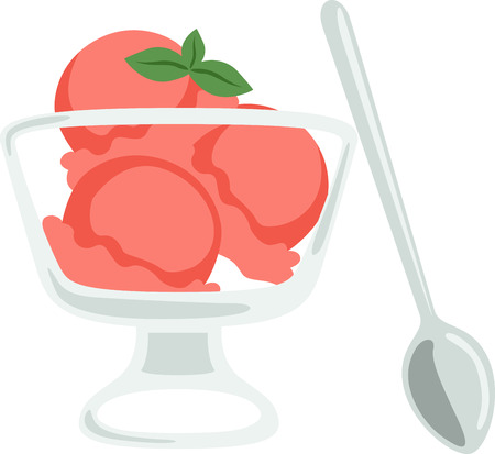 What a cool design of a yummy sorbet dessert. This would be great on a kitchen apron or little girls shirt. 向量圖像
