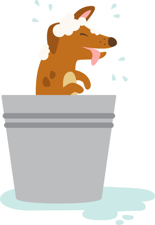 This puppy design is squeaky clean. Add him to a tote bag to take to the groomer. Illustration