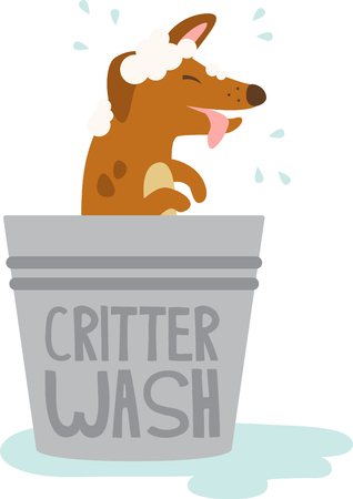 squeaky clean: This puppy design is squeaky clean. Add him to a tote bag to take to the groomer. Illustration