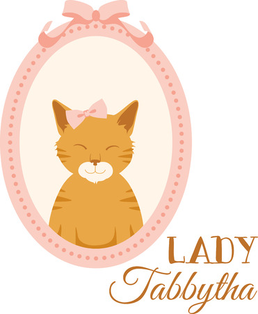 tabby: What a sweet tabby kitten in a portrait design. This would be cute on a childs tee or pillowcase. Illustration