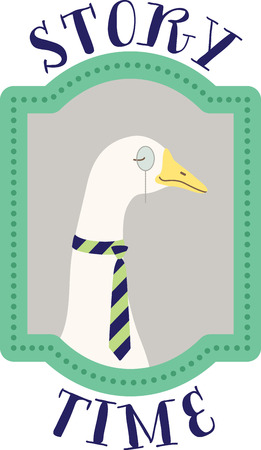 waterfowl: What a cute goose in a portrait design. This would be cute on a childs tee or pillowcase.