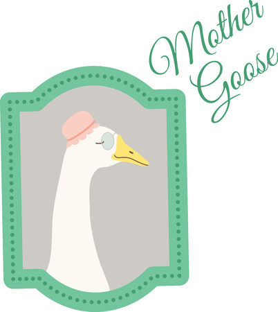 What a cute goose in a portrait design. This would be cute on a childs tee or pillowcase.