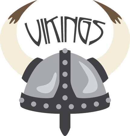 Show Your School Spirit With This Viking Helmet Design. Use ...
