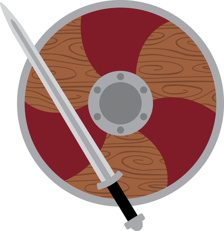 norseman: Show your school spirit with this shield & sword design. Use this on spirit wear for a great look.