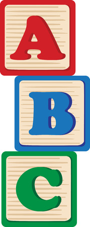 Blocks offer kids a foundation for learning.  Add style with this design on nursery furniture and decor!