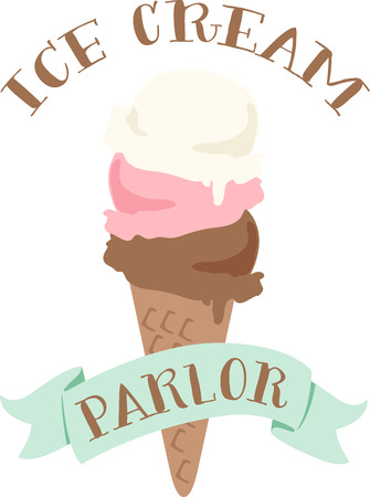 sherbet: Nothing screams summer like an ice cream cone.  This design is perfect on bags, t-shirts and more.