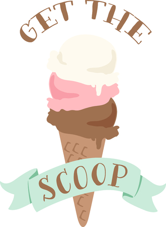 gelato: Nothing screams summer like an ice cream cone.  This design is perfect on bags, t-shirts and more.