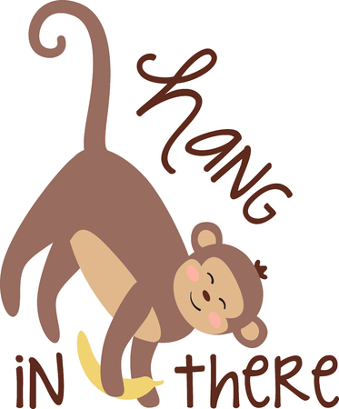 mischief: This little primate is full of curiosity, adventure and mischief and ready to jump on to bodysuits, layettes, diaper covers, baby t-shirts, hats, bibs & more!