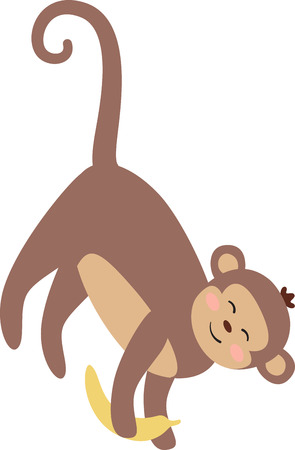 primate: This little primate is full of curiosity, adventure and mischief and ready to jump on to bodysuits, layettes, diaper covers, baby t-shirts, hats, bibs & more!