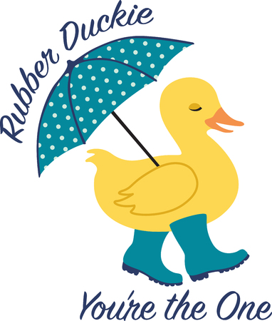 brolly: Mark the arrival of spring with this duck design on baby clothing, bodysuits, layettes, diaper covers, hats, bibs & more! for perfect gifts.
