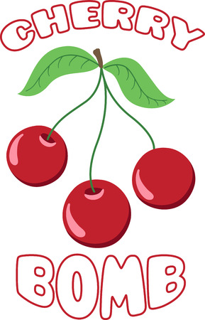 Create a splendid look for summer with tasty cherries on place mats and linens!