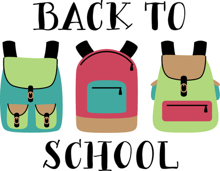 Always a back to school staple, this design is perfect on pencil bags, back packs, t-shirts and more! Иллюстрация
