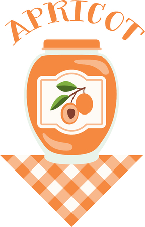 preserve: Make your summer bounty last longer with home canning!  Make unique gifts for loved one with this design on napkins, kitchen décor and more! Illustration