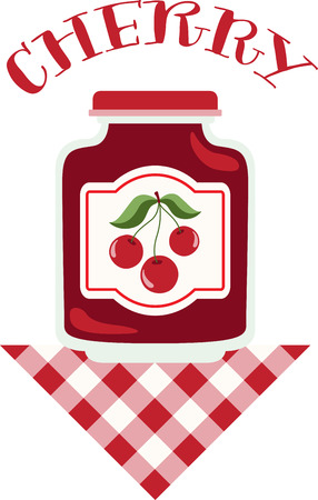 cor: Make your summer bounty last longer with home canning!  Make unique gifts for loved one with this design on napkins, kitchen décor and more! Illustration